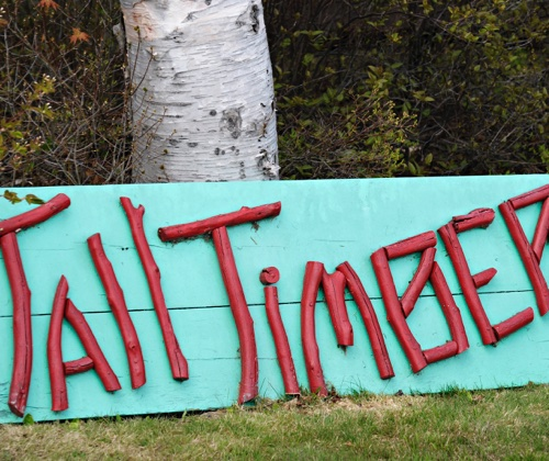 Tall Timber Lodge sign
